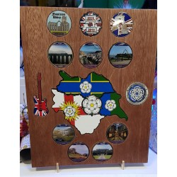 Oak Coin Display Large