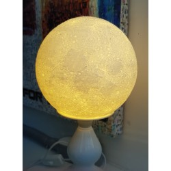3D Printed Moon Lamp 6""
